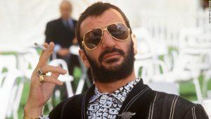 Ringo Starr smoking