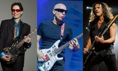 Steve Vai, Joe Satriani and Kirk Hammett