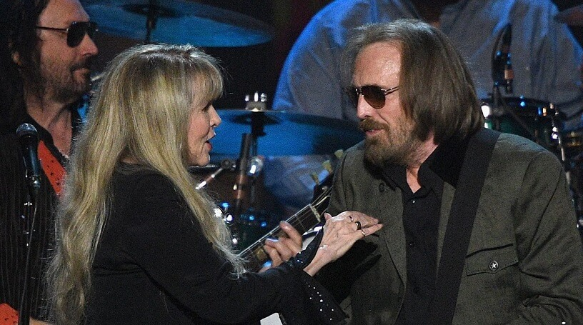 Stevie Nicks and Tom Petty on stage