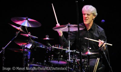 Stewart Copeland playing drums