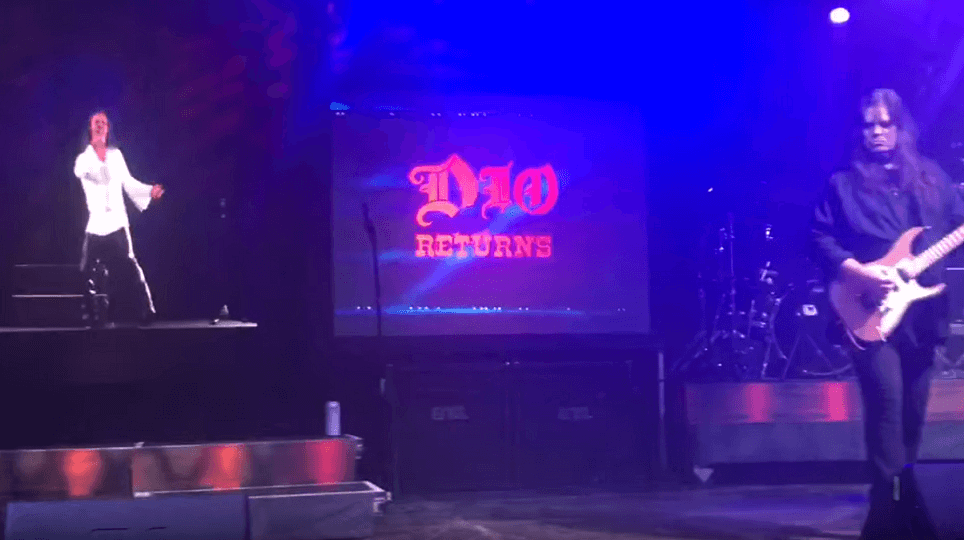 "Watch Dio's hologram singing ""Rainbow In The Dark"""