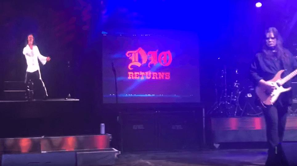 """Watch Dio's hologram singing """"Rainbow In The Dark"""""""