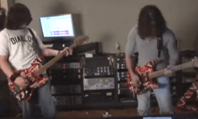 Watch rare footage of Eddie and Alex Van Halen first rehearsal with Wolfgang