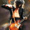 Jimmy Page illustration violin