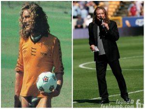 Robert Plant playing soccer
