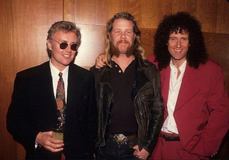 Roger Taylor, James Hetfield and Brian May