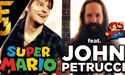Watch John Petrucci performing Mario Bros theme song