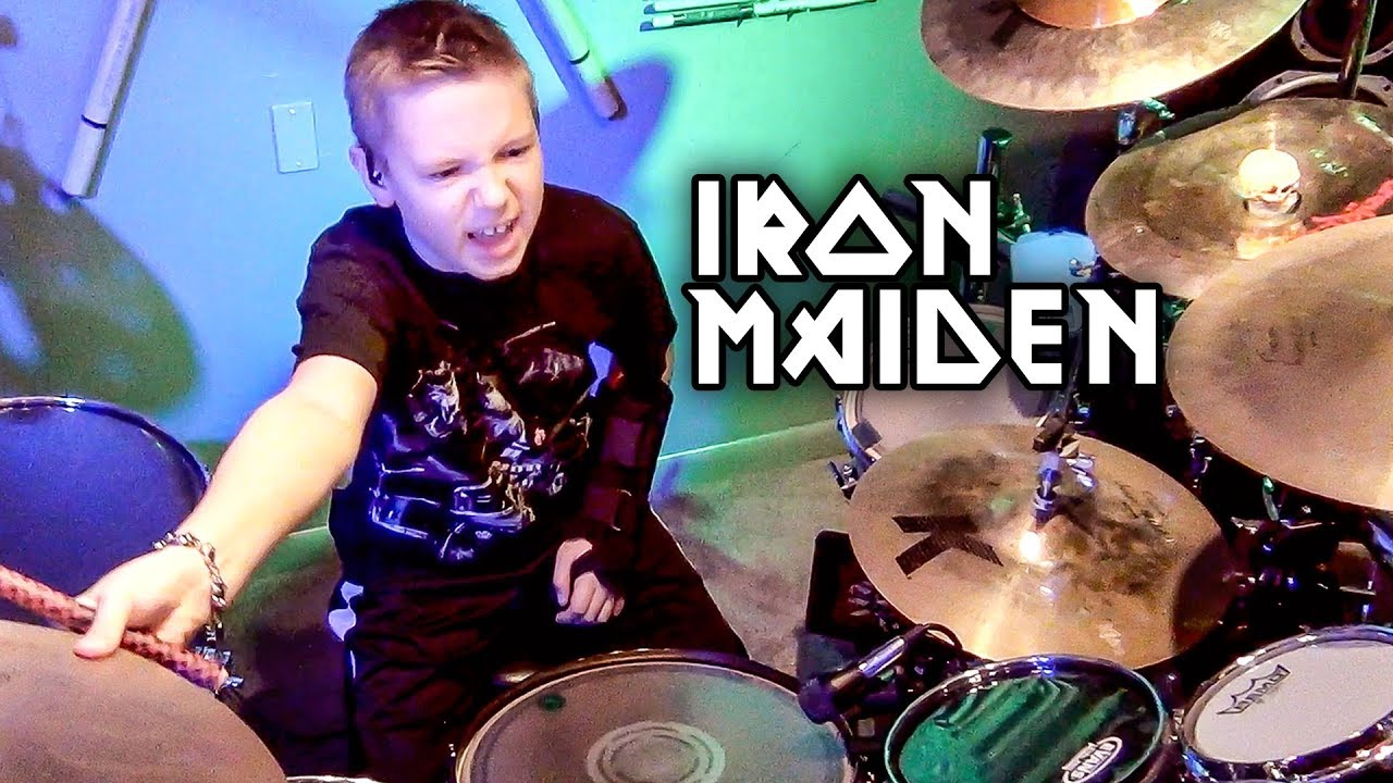 Watch amazing kid drummer performing Iron Maiden's The Trooper