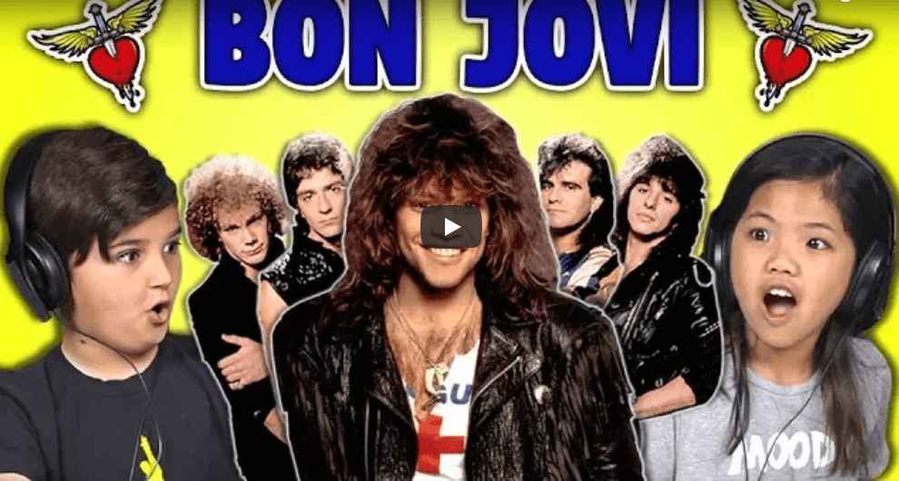 Watch kids reacting to Bon Jovi