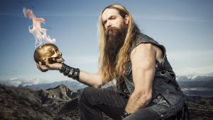 Zakk Wylde skull on fire