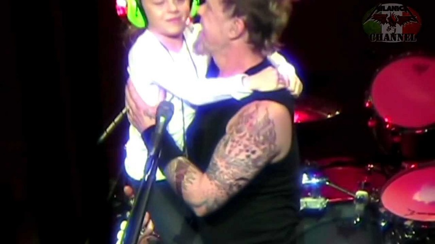 Back In Time James Hetfield sings happy birthday with his daughter on stage
