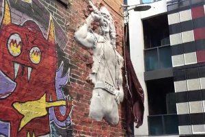 Bon Scott sculpture in Melbourne