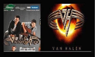 Brazilian country musicians ripp off Van Halen logo