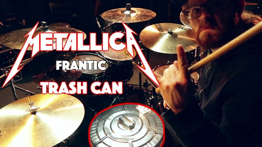 "Canadian drummer plays Metallica's ""Frantic"" in a garbage can"