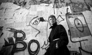 David Bowie on Berlin Wall
