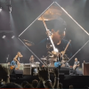 Fan plays drums with Foo Fighters