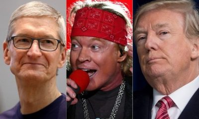 Tim Cook, Axl Rose and Donald Trump