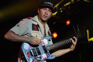 Tom Morello playing the guitar