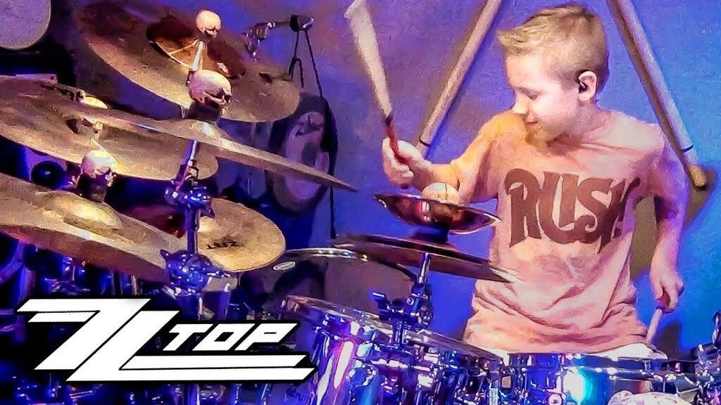 """Amazing kid drummer performs ZZ Top's """"La Grange"""""""