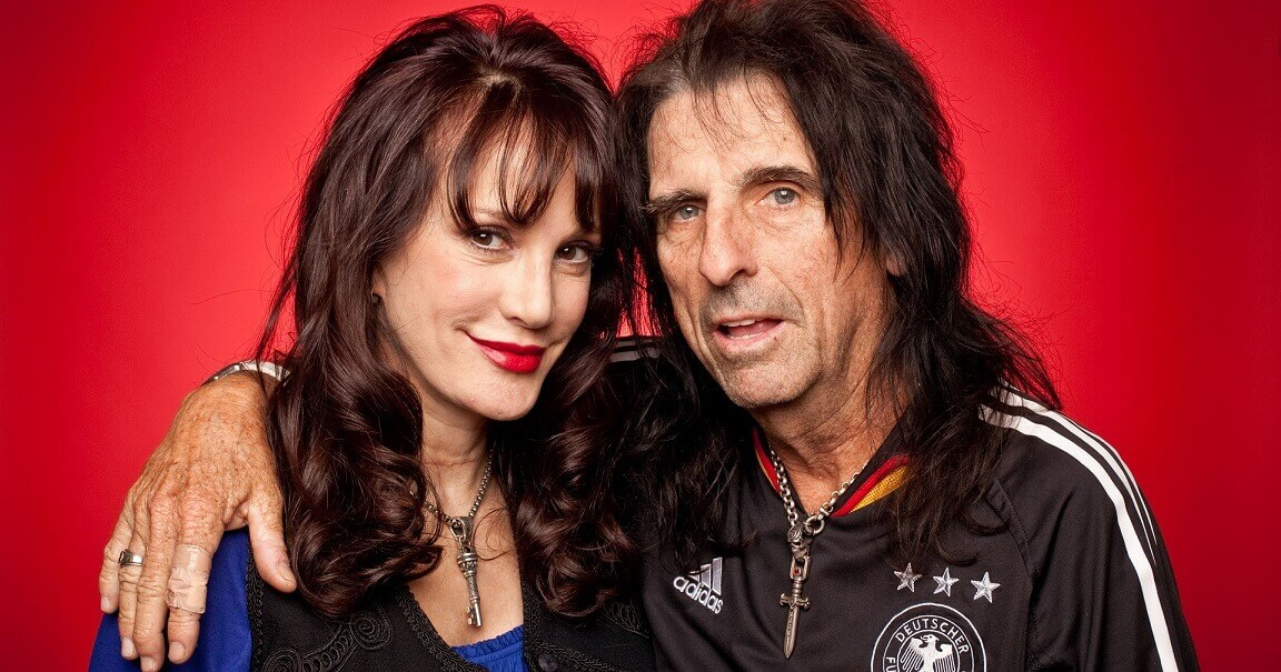 Alice Cooper and wife