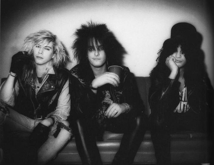 Duff McKagan, Nikki Sixx and Slash