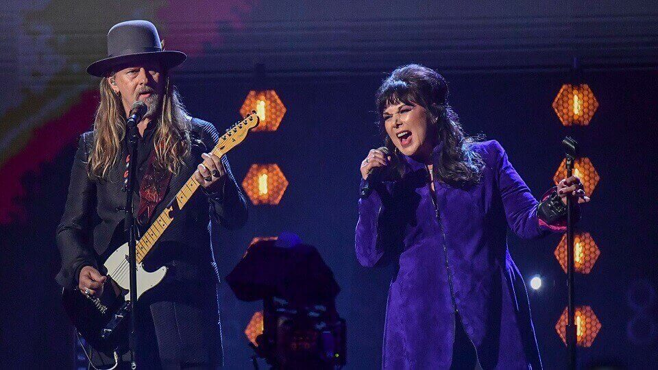 Jerry Cantrell and Ann Wilson