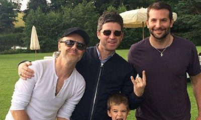 Lars Ulrich, Noel Gallagher and Bradley Cooper