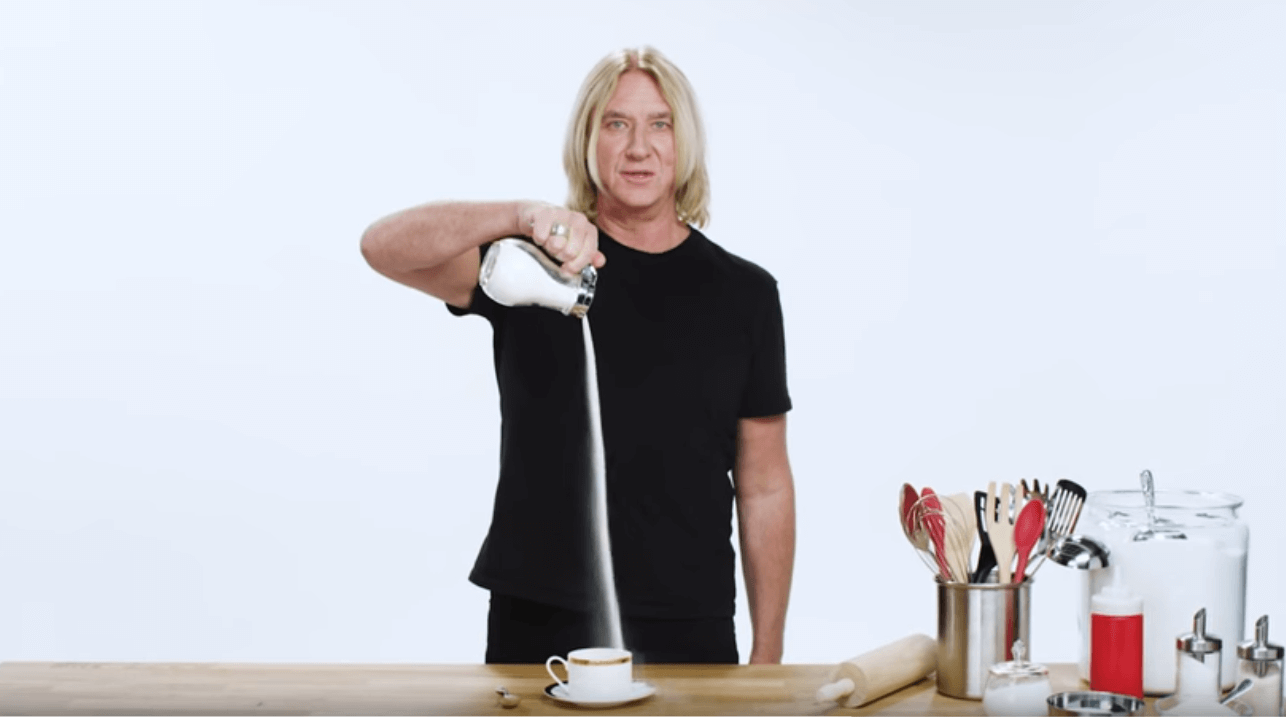 Pouring sugar with Joe Elliot