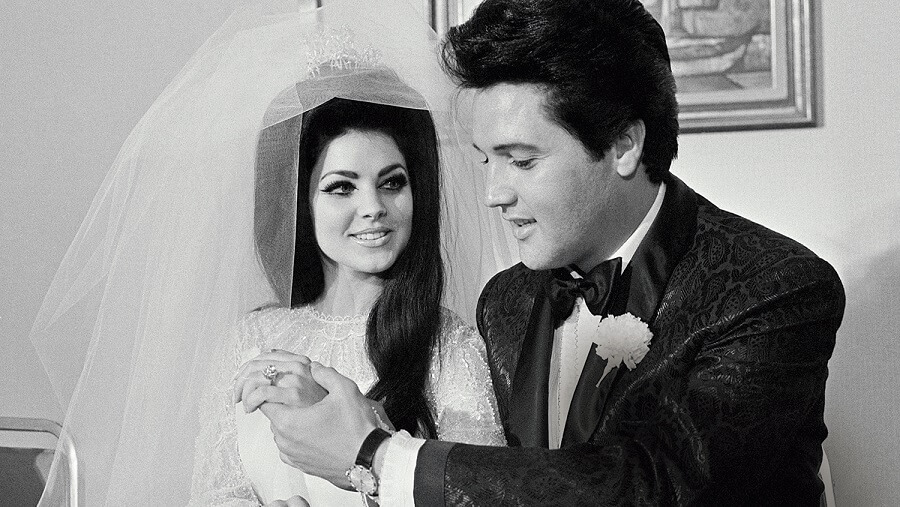 Priscila Presley and Elvis Presley