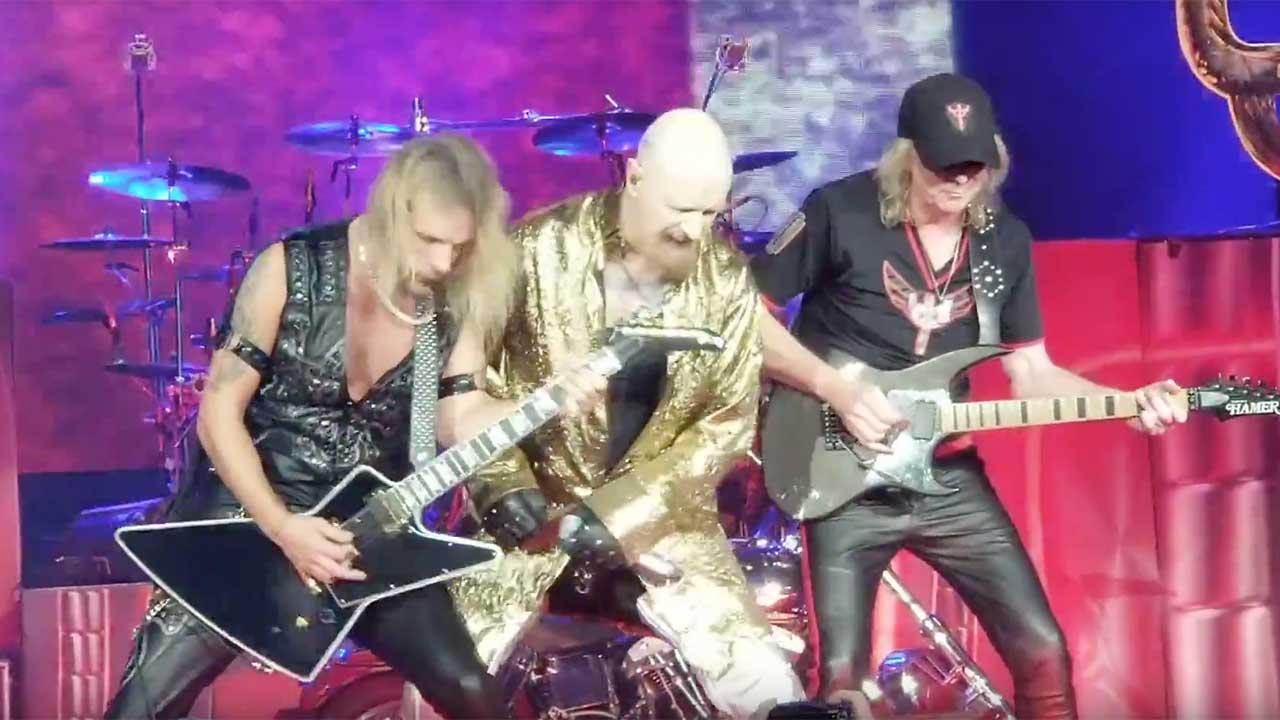 Richie Faulkner, Rob Halford and Glenn Tipton
