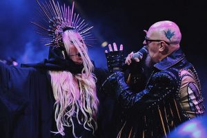 Rob Halford and a woman
