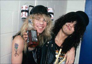 Steven Adler and Slash 1987