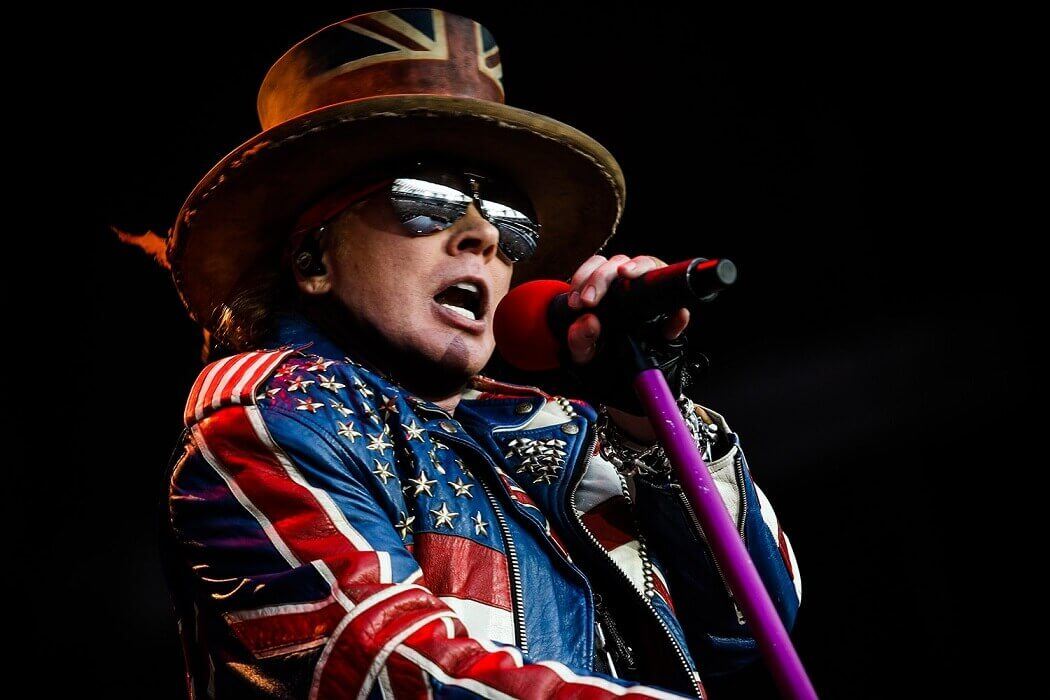 Axl Rose with american jacket