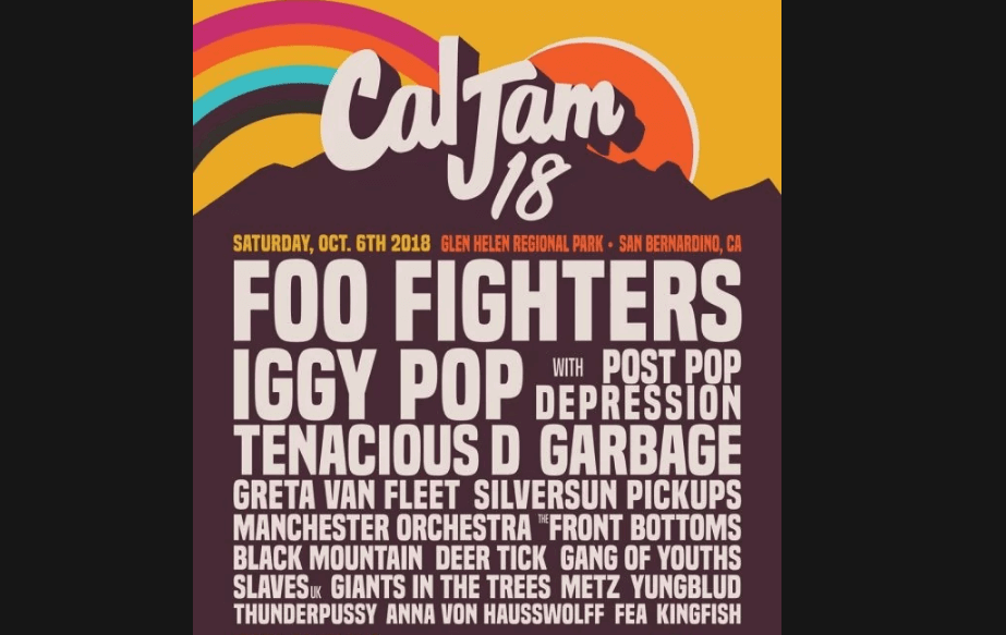 Cal Jam 2018 line up