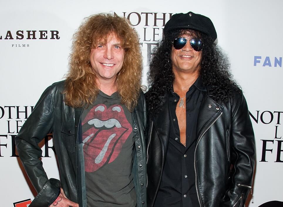 Steven Adler and Slash