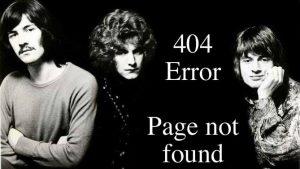 Error Jimmy Page not found