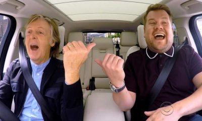 Paul McCartney and James Corden