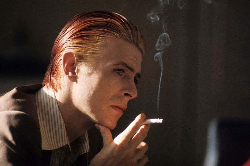 David Bowie smoking