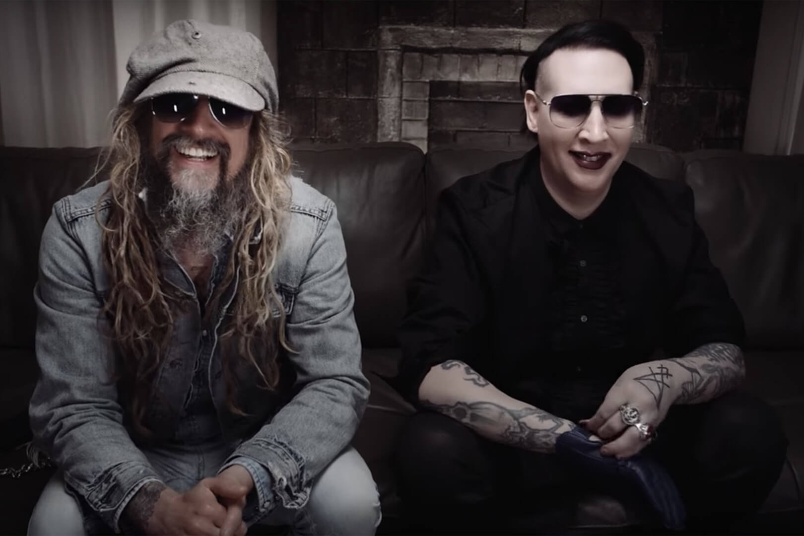 Rob Zombie and Marylin Manson