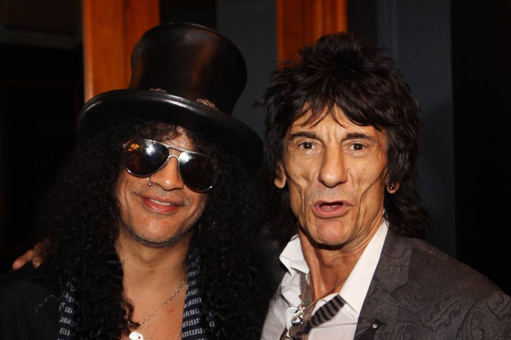 Slash and Ronnie Wood