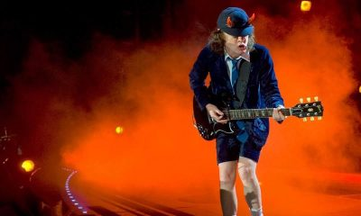 Angus Young with horns