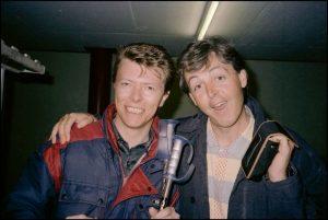 David Bowie and Paul McCartney