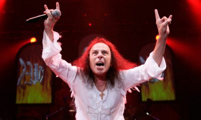 Ronnie James Dio horns in concert