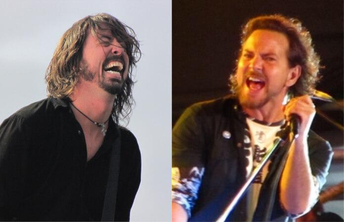 Steve Van Zandt, Eddie Vedder and Dave Grohl