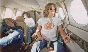 The Eagles on an airplane