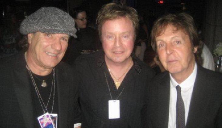 Brian Johnson and Paul McCartney