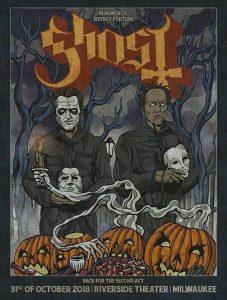Ghost tribute to dead fan
