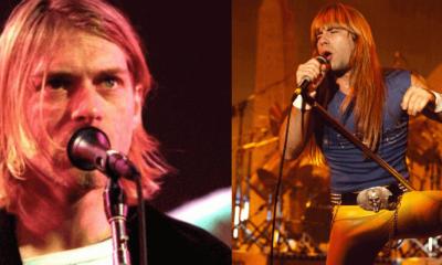 Kurt Cobain and Bruce Dickinson