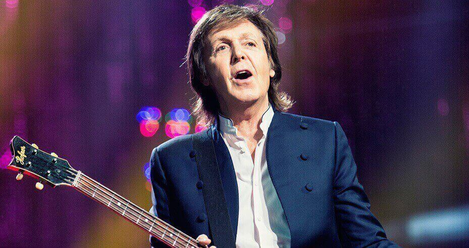 Paul McCartney playing bass