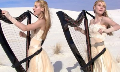 The Harp Twins performing Metallica